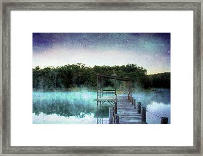 Pier In The Mist Framed Print