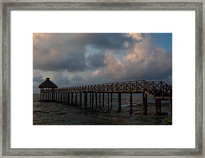 Pier Into Dawn Framed Print