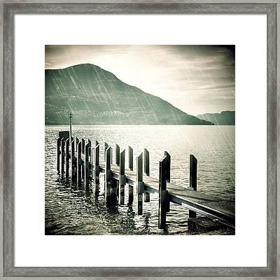 Pier Framed Print by Joana Kruse