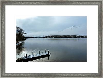 Framed Print featuring the photograph Pier On The Loch by Lynn Bolt