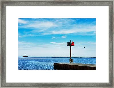 Pier Six Framed Print