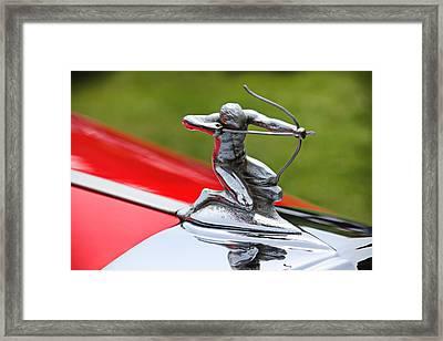 Piere-arrow Hood Ornament Framed Print by Garry Gay