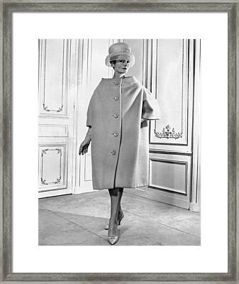 Pierre Cardin Womens Voluminous Coat Framed Print