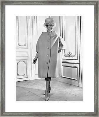 Pierre Cardin Womens Voluminous Coat Framed Print by Everett