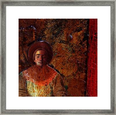 Pierrot A Travers Du Temps Framed Print by Chrystle Wolff