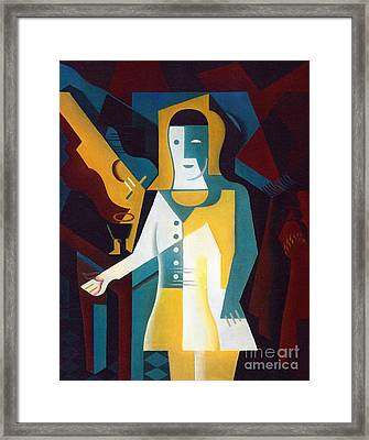 Pierrot Framed Print by Pg Reproductions