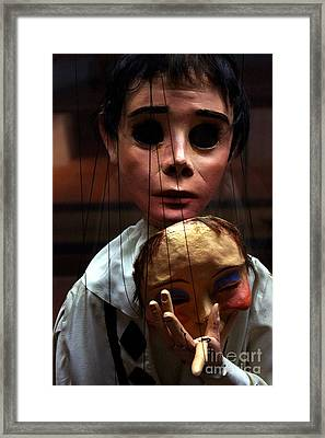 Pierrot Puppet Framed Print by Mona Edulesco