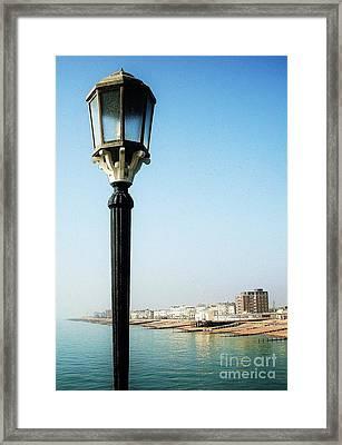 Pierside Post Framed Print by Sarah Clark