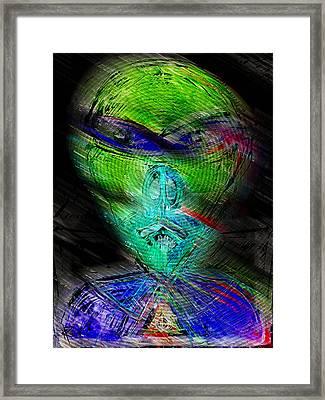 Pig Man From The Planet Porcine Framed Print