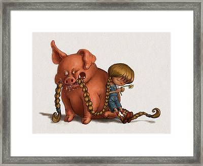 Pig Tales Chomp Framed Print