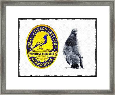 Pigeon Grand Bock Framed Print by Bill Cannon