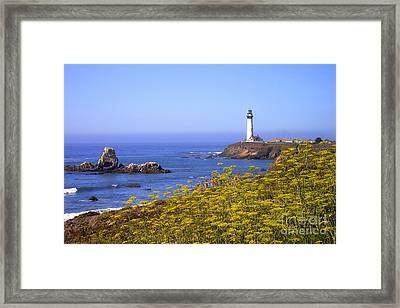 Pigeon Point Lighthouse California Coast Framed Print by Mike Nellums