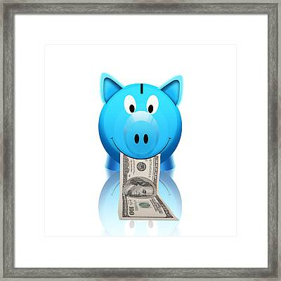 Piggy Bank Framed Print by Setsiri Silapasuwanchai