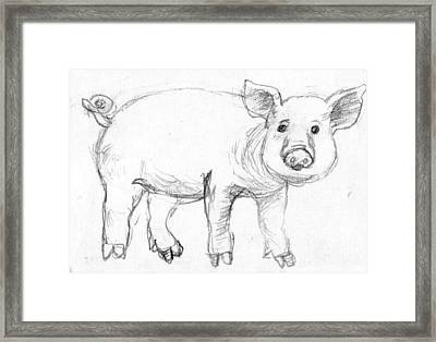 Piglet Framed Print by Ming Yeung