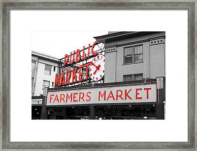 Pike Place Market Seattle Framed Print by Michael  Kenney