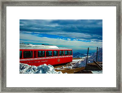 Framed Print featuring the photograph Pikes Peak Railway by Shannon Harrington