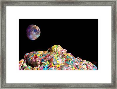 Pile Of Color In Space Two K O Four Framed Print by Carl Deaville