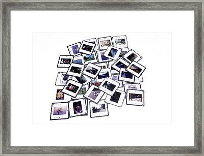 Pile Of Color Slides Framed Print by Matthias Hauser