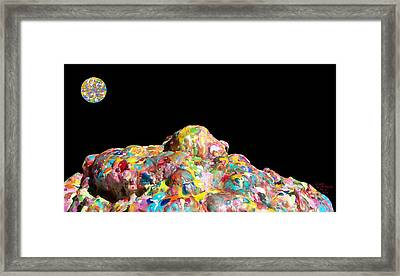 Pile Of Encaustic Color With A Wax Moon Two K O Four Framed Print by Carl Deaville