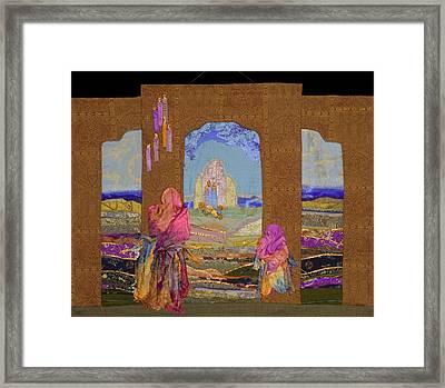 Pilgrimage Framed Print by Roberta Baker
