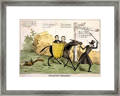 Pilgrims Progress, Showing Ex-president Framed Print by Everett