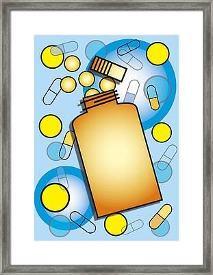Pill Bottle Framed Print by David Nicholls