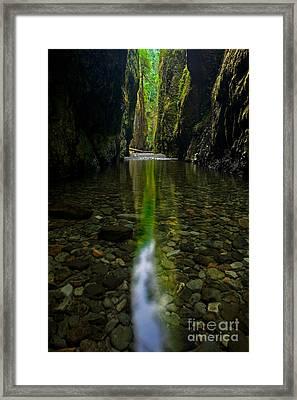 Pillar Of Light Framed Print