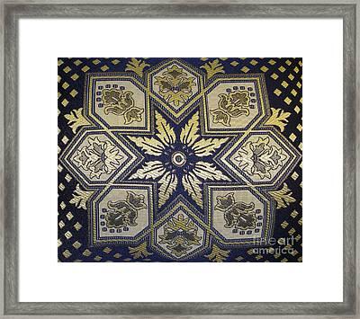 Pillows Of Agadir - Moroccan Blue Framed Print by Maria Bonnier-Perez