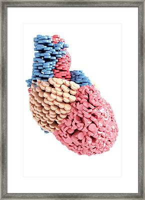 Pills Heart Framed Print by MedicalRF.com