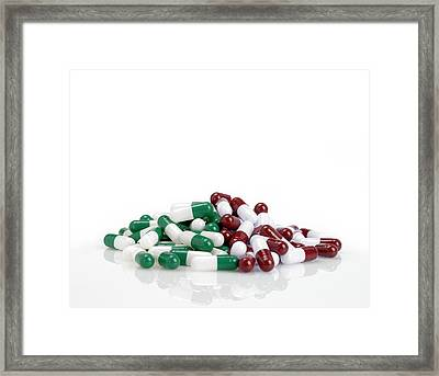 Pills Framed Print by Maria Toutoudaki