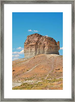 Pilot Butte Rock Formation II Framed Print by Donna Greene