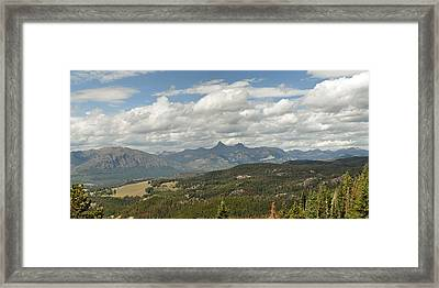 Pilot Peak Panorama Framed Print