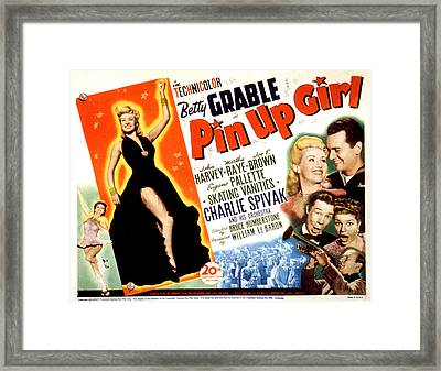 Pin-up Girl, Betty Grable, John Harvey Framed Print