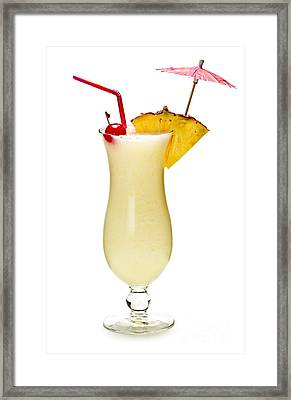 Pina Colada Cocktail Framed Print by Elena Elisseeva