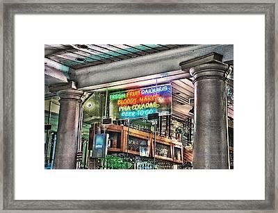 Pina Coladas Framed Print