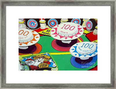 Framed Print featuring the painting Pinball Wizard by Beth Saffer