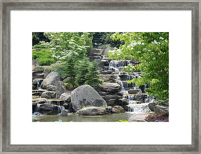 Pine Falls Framed Print by Michael Carrothers
