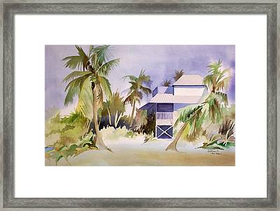 Framed Print featuring the painting Pine Island Fl. by Richard Willows