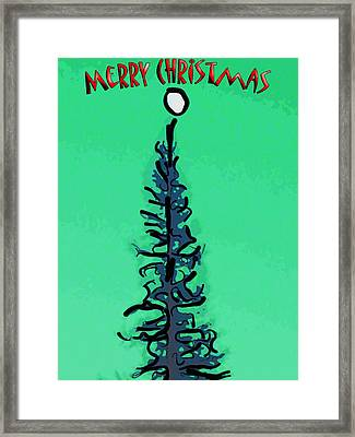 Pine Tree Christmas Framed Print