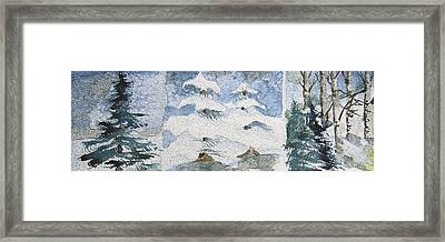 Pine Tree Trilogy Framed Print