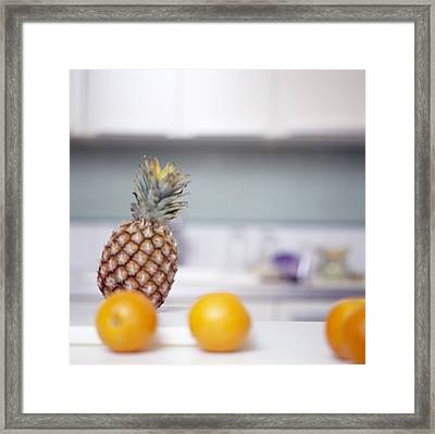 Pineapple And Oranges Framed Print by Cristina Pedrazzini