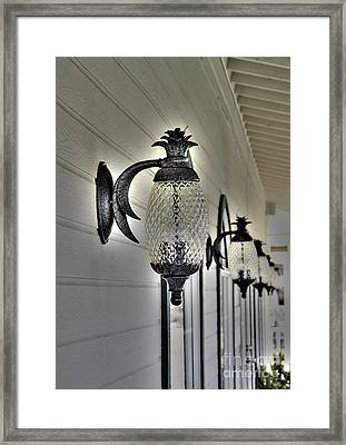 Pineapple Lights Framed Print