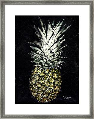 Pineapple Framed Print by Robert Goudreau
