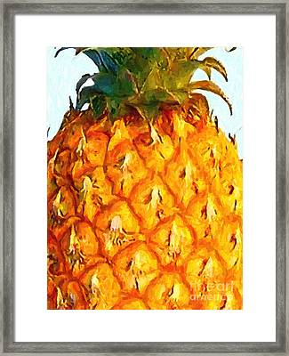 Pineapple Framed Print by Wingsdomain Art and Photography