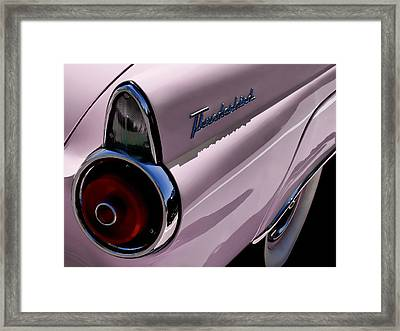 Pink 1955 T-bird Framed Print