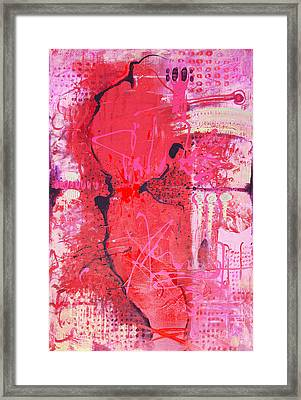 Pink Abstract Framed Print by Lolita Bronzini