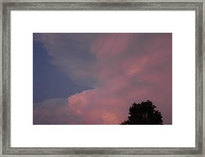 Pink And Blue Sky Framed Print by LeeAnn McLaneGoetz McLaneGoetzStudioLLCcom
