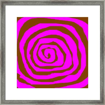 Pink And Brown Swirls Framed Print by Jeannie Atwater Jordan Allen