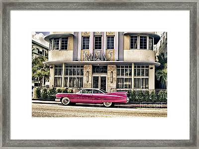 Framed Print featuring the photograph Pink Cadillac by Vicki DeVico