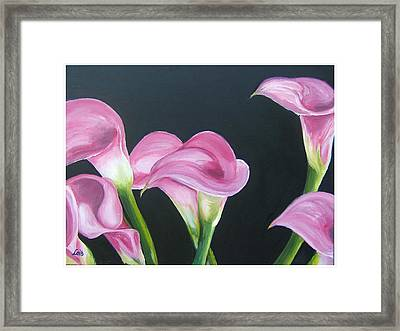 Pink Calla Lily's Framed Print